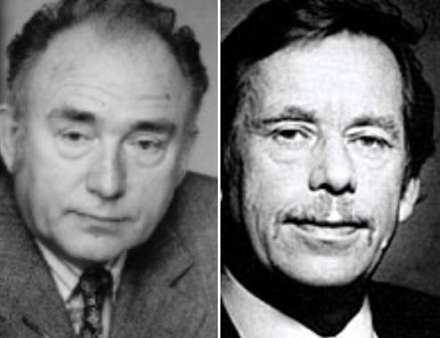 Jan Kozak and Václav Havel
